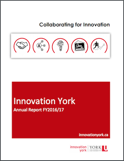 Innovation York Annual Report Cover 2016-2017